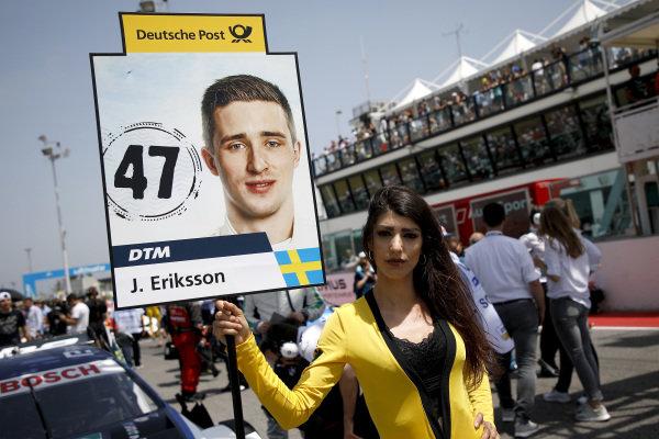 Grid girl of Joel Eriksson, BMW Team RBM.