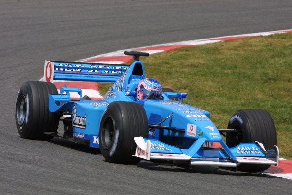 2001 Spanish Grand PrixCatalunya, Barcelona, Spain. 27-29 April 2001.Jenson Button (Benetton B201 Renault).World Copyright - LAT Photographicref: 8 9 MB Digital File