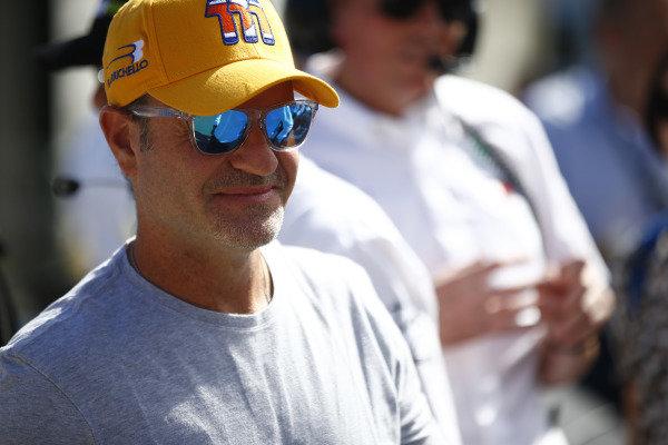 Rubens Barrichello in the holding area