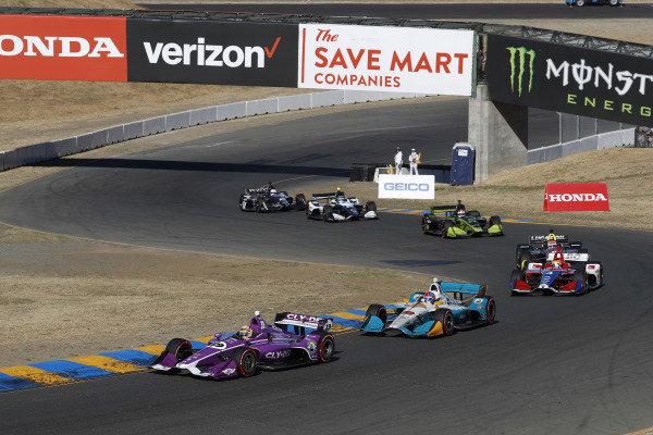 Santino Ferrucci, Dale Coyne Racing Honda, Colton Herta, Harding Racing Chevrolet