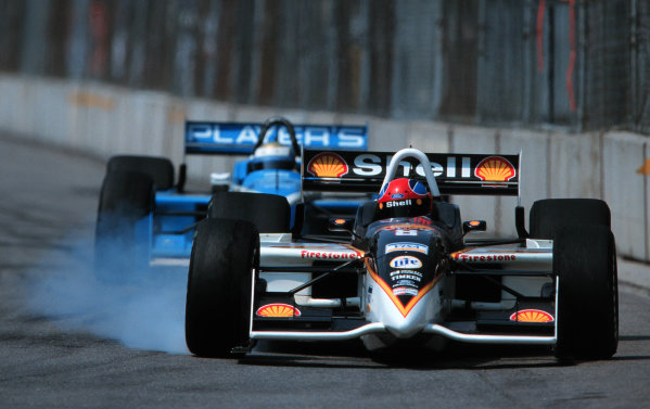 1999 CART Toronto G P.Herta Locks up the brakes-1999, Phil Abbott, USALAT PHOTOGRAPHIC