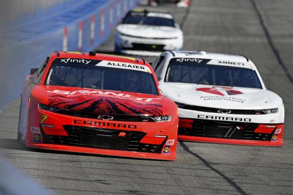 #7: Justin Allgaier, JR Motorsports, Chevrolet Camaro BRANDT, #1: Michael Annett, JR Motorsports, Chevrolet Camaro AHA/Pilot Flying J