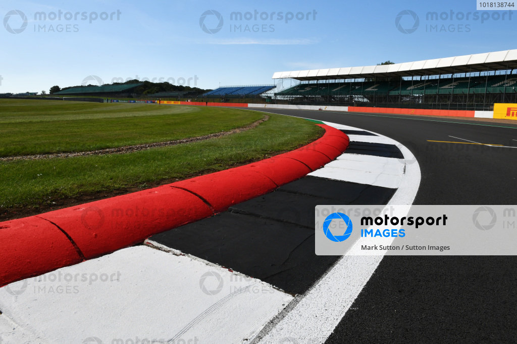 A view across one of the kerbs at Silverstone