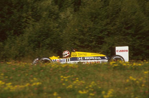 Osterreichring, Zeltweg, Austria.14-16 August 1987.Nelson Piquet (Williams FW11B Honda) 2nd position.Ref-87 AUT 08.World Copyright - LAT Photographic