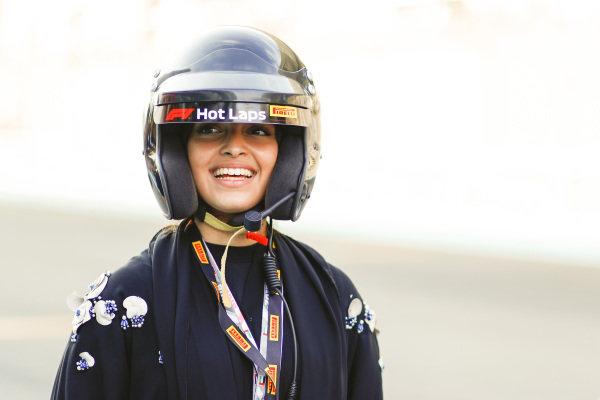 F4 driver Amna Al Qubaisi prepares for a Hot Lap
