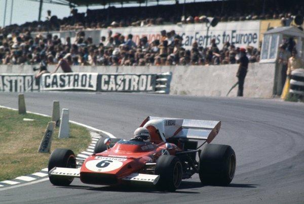 1972 British Grand Prix.Brands Hatch, England.13-15 July 1972.Arturo Merzario (Ferrari 312B2) 6th position.World Copyright - LAT Photographic