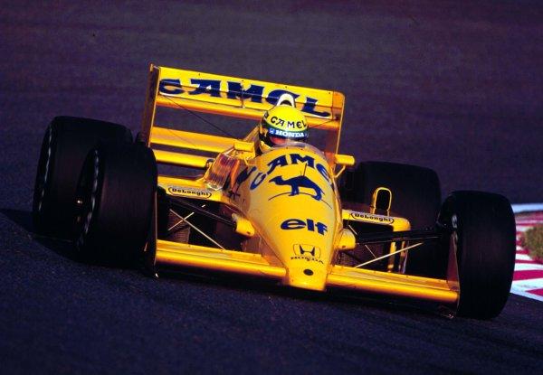 1987 Japanese Grand Prix.Suzuka, Japan.29/10-1/11 1987.Ayrton Senna (Lotus 99T Honda) 2nd position.World Copyright - LAT Photographic