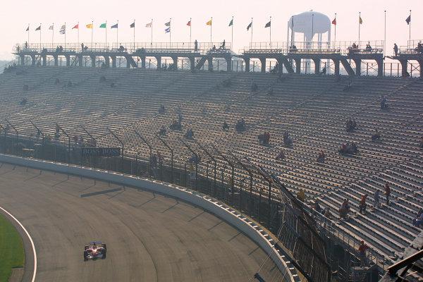 2002 American Grand Prix.Indianapolis, Indiana, USA. 27-29 September 2002.Rubens Barrichello (Ferrari F2002) 1st position.World Copyright - LAT Photographicref: Digital File Only