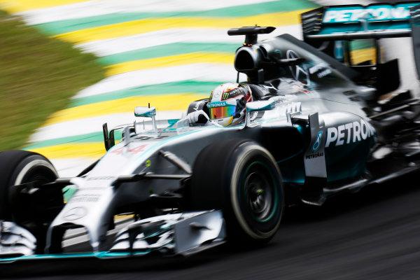 Interlagos, Sao Paulo, Brazil. Friday 7 November 2014. Lewis Hamilton, Mercedes F1 W05 Hybrid. World Copyright: Alastair Staley/LAT Photographic. ref: Digital Image _R6T7260