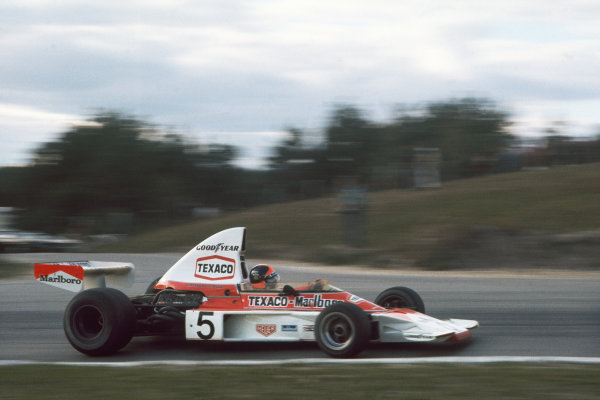 1974 Canadian Grand Prix  Mosport Park, Canada. 22 September 1974.  Emerson Fittipaldi, McLaren M23 Ford, 1st position.  Ref: 74CAN12. World Copyright: LAT Photographic