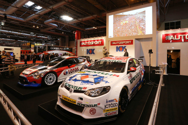 Chris Routledge (GBR) Zoom on the main stage. Autosport International Show, NEC, Birmingham, England, Day Two, 10 January 2014.