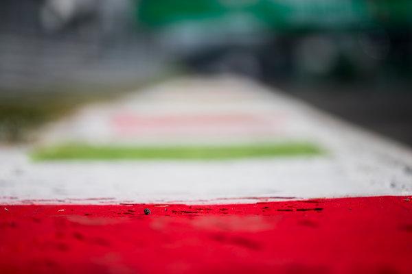 2017 FIA Formula 2 Round 9. Autodromo Nazionale di Monza, Monza, Italy. Thursday 31 August 2017. Kerbs. Photo: Zak Mauger/FIA Formula 2. ref: Digital Image _54I4855