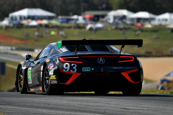 IMSA WeatherTech SportsCar Championship Motul Petit Le Mans Road Atlanta, Braselton GA Thursday 5 October 2017 93, Acura, Acura NSX, GTD, Andy Lally, Katherine Legge, Mark Wilkins World Copyright: Richard Dole LAT Images ref: Digital Image RDPLM039