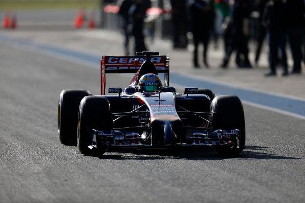 2014 F1 Pre Season Test 1 - Preview Circuito de Jerez, Jerez, Spain. Tuesday 28 January 2014. Jean-Eric Vergne, Toro Rosso STR9 Renault. World Copyright: Andrew Ferraro/LAT Photographic. ref: Digital Image _79P0680