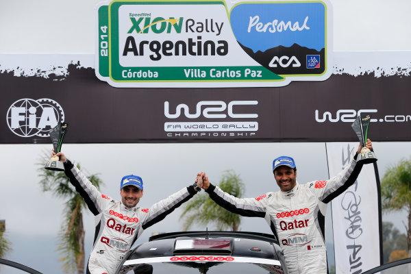 2014 World Rally Championship Rally Argentina 8th - 11th May 2014 Nasser Al Attiyah, Giovanni Bernacchini, Ford, Podium Worldwide Copyright: McKlein/LAT