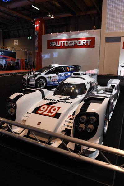 Porsche Team Porsche 919 Hybrid. Autosport International Show, NEC, Birmingham, England, 8 January 2015.