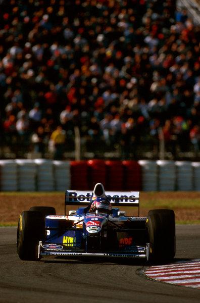 Buenos Aires, Argentina.11-13 APRIL 1997.Jacques Villeneuve (Williams FW19 Renault) 1st position.Ref-97 ARG 06.World Copyright - LAT Photographic