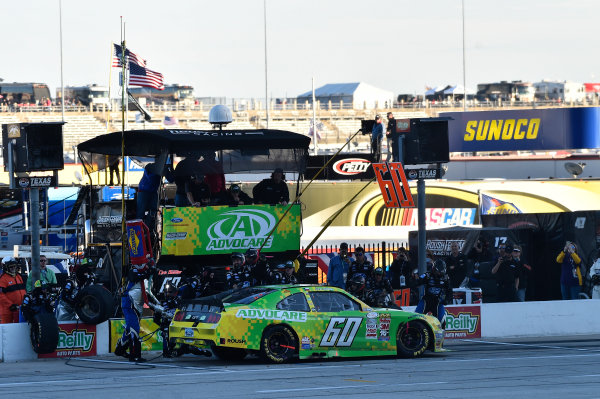 6-7 November, 2015, Fort Worth, Texas USA Chris Buescher (60) makes a pit stop ?2015, John Harrelson / LAT Photo USA