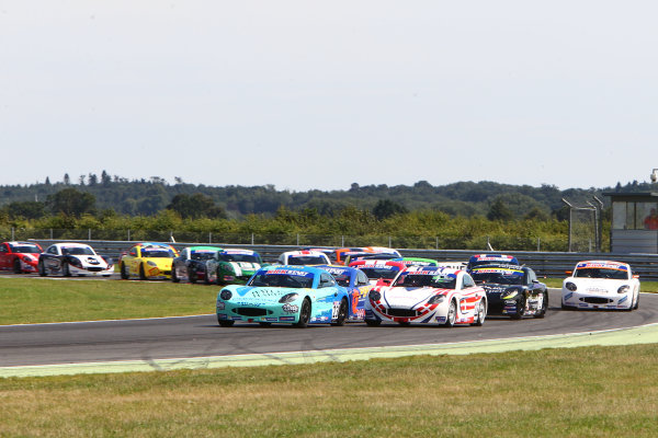 2015 Ginetta Junior Championship,  Snetterton, 8th-9th August 2015. The start of the race World copyright. Jakob Ebrey/LAT Photographic