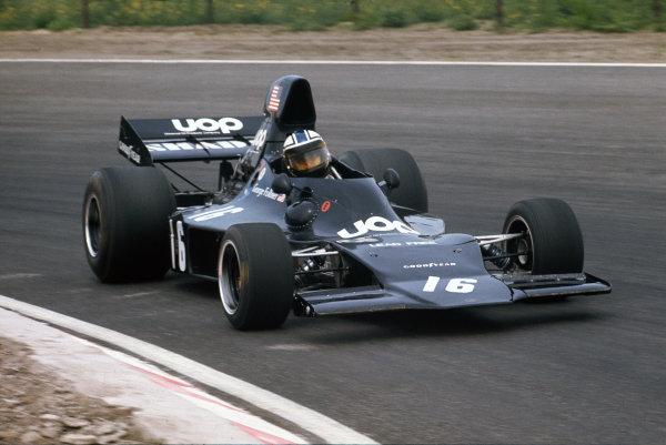 1973 Dutch Grand Prix.  Zandvoort, Holland. 27-29th July 1973.  George Follmer, Shadow DN1 Ford.  Ref: 73HOL22. World Copyright: LAT Photographic