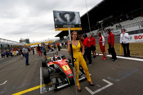 Round 7 - Nurburgring, Germany 16th - 18th August 2013  Gridgirl of Raffaele Marciello (ITA) PREMA POWERTEAM Dallara F312 Mercedes World Copyright: XPB Images / LAT Photographic  ref: Digital Image 2780102_HiRes