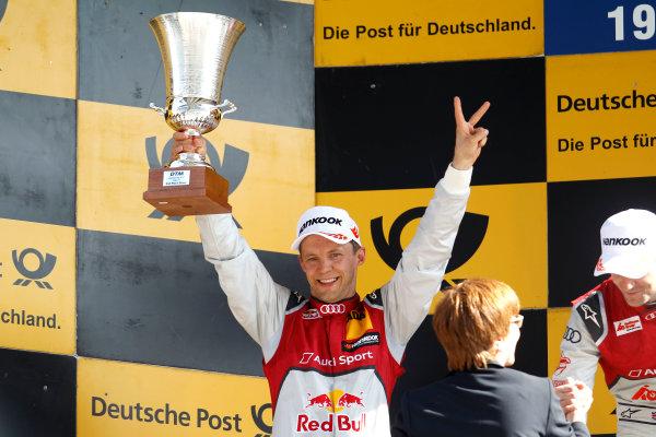 2017 DTM Round 2 Lausitzring, Germany. Sunday 21 May 2017. Podium: second place Mattias Ekstr?m, Audi Sport Team Abt Sportsline, Audi A5 DTM World Copyright: Alexander Trienitz/LAT Images ref: Digital Image 2017-DTM-R2-ESL-AT1-4706