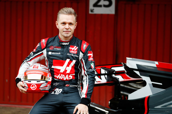 HAAS F1 Car Formula 1 Launch. Barcelona, Spain  Monday 27 February 2017. Kevin Magnussen, Haas F1 World Copyright: Dunbar/LAT Images Ref: _31I9997