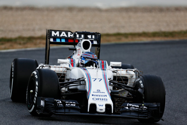 Circuit de Catalunya, Barcelona, Spain Monday 22 February 2016. Valtteri Bottas, Williams FW38 Mercedes. World Copyright: Alastair Staley/LAT Photographic ref: Digital Image _R6T6517
