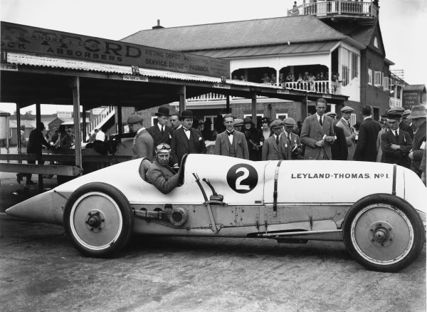 1924 BARC Whitsun Monday Meeting. Brooklands, Great Britain. June 1924. Parry Thomas (Leyland Eight), portrait.  World Copyright: LAT Photographic.  Ref:  Autocar Glass Plate A3280.