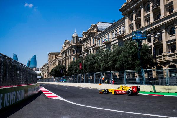 2017 FIA Formula 2 Round 4. Baku City Circuit, Baku, Azerbaijan. Friday 23 June 2017. Sean Gelael (INA, Pertamina Arden)  Photo: Zak Mauger/FIA Formula 2. ref: Digital Image _54I9472