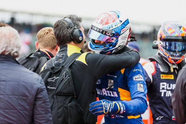 2017 FIA Formula 2 Round 6. Silverstone, Northamptonshire, UK. Sunday 16 July 2017. Nicholas Latifi (CAN, DAMS).  Photo: JEP/FIA Formula 2. ref: Digital Image 1DXA9149