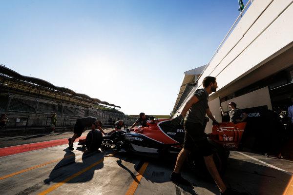 Hungaroring, Budapest, Hungary.  Tuesday 01 August 2017. Stoffel Vandoorne, McLaren MCL32 Honda. World Copyright: Zak Mauger/LAT Images  ref: Digital Image _54I7681