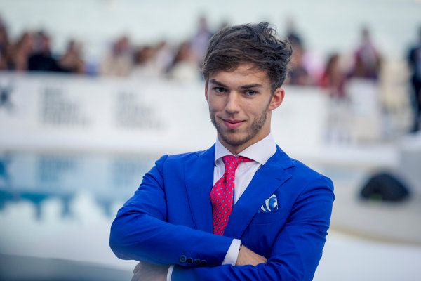 Pierre Gasly (FRA) Scuderia Toro Rosso at the Amber Lounge fashion show