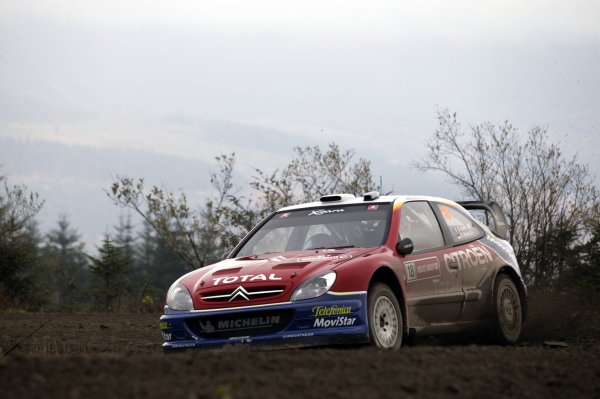 2003 FIA World Rally Champs. Round fourteen Wales Rally GB 6th-9th November 2003.Sebastien Loeb, Citroen, ActionWorld Copyright: McKlein/LAT