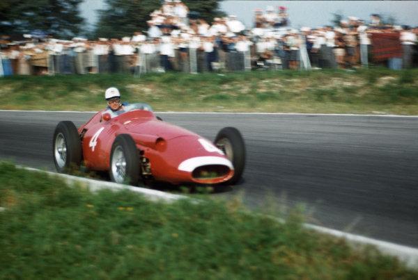 Monza, Italy. 6-8 September 1957. Harry Schell, Maserati 250F. Ref: 57ITA16. World Copyright - LAT Photographic