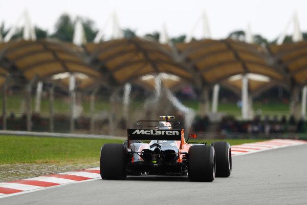 Sepang International Circuit, Sepang, Malaysia. Saturday 30 September 2017. Stoffel Vandoorne, McLaren MCL32 Honda.  World Copyright: Steven Tee/LAT Images  ref: Digital Image _O3I2581