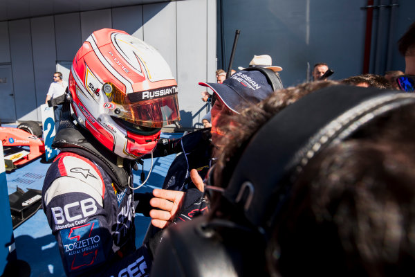 2017 FIA Formula 2 Round 9. Autodromo Nazionale di Monza, Monza, Italy. Sunday 3 September 2017. Luca Ghiotto (ITA, RUSSIAN TIME).  Photo: Zak Mauger/FIA Formula 2. ref: Digital Image _T9I9338