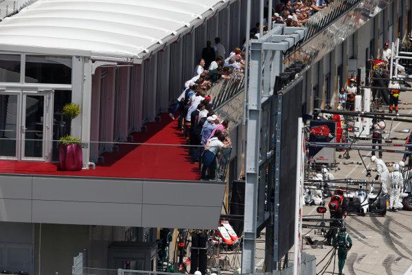 Red Bull Ring, Spielberg, Austria. Sunday 22 June 2014. Valtteri Bottas, Williams FW36 Mercedes, in the pits. World Copyright: Glenn Dunbar/LAT Photographic. ref: Digital Image _89P7855