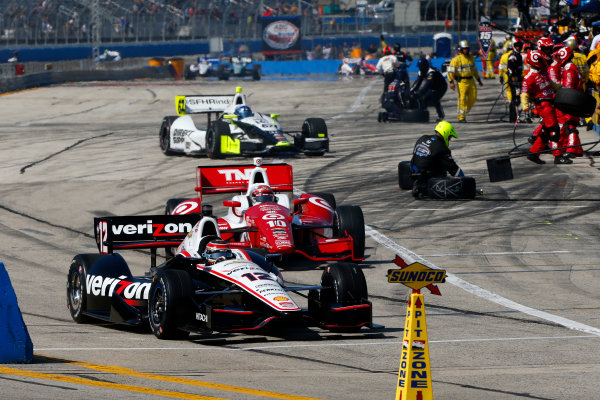 16-17 August, 2014, West Allis, Wisconsin USA Will Power beats Tony Kanaan out of the pits ?2014, Lesley Ann Miller LAT Photo USA