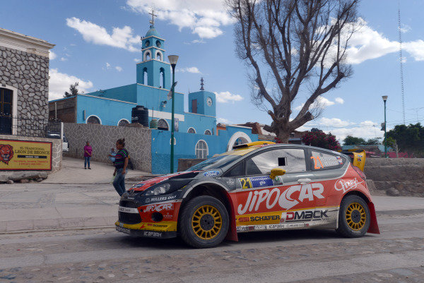 Martin Prokop (CZE) and Michal Ernst (CZE), Ford Fiesta RS WRC on a road section.FIA World Rally Championship, Rd3, Rally Guanajuato Mexico, Leon, Mexico, Day Two, Saturday 9 March 2013.