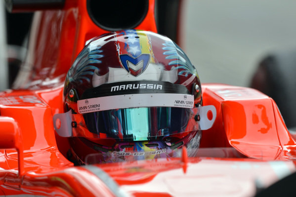 Rodolfo Gonzalez (VEN) Marussia F1 Team MR02. Formula One World Championship, Rd9, German Grand Prix, Practice, Nurburgring, Germany, Friday 5 July 2013.