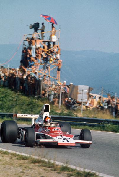 1974 Austrian Grand Prix  Osterreichring, Austria. 16-18th August 1974.  Emerson Fittipaldi, McLaren M23 Ford, retired.  Ref: 74AUT01. World Copyright: LAT Photographic
