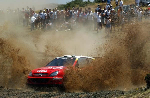 Thomas Radstrom (SWE) Citroen Xsara WRC on stage 15. He finished in 8th place. Acropolis Rally, Rd7, Greece. Day Three. 16 June 2002.DIGITAL IMAGE