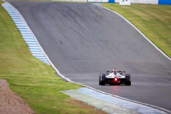 FIA Formula E Championship 2015/16. Pre-season Testing Session One. Jacques Villeneuve (CAN), Venturi VM200-FE-01  Donnington Park Racecourse, Derby, England. Monday 10 August 2015 Photo: Adam Warner/LAT/Autocar ref: Digital Image _L5R8237