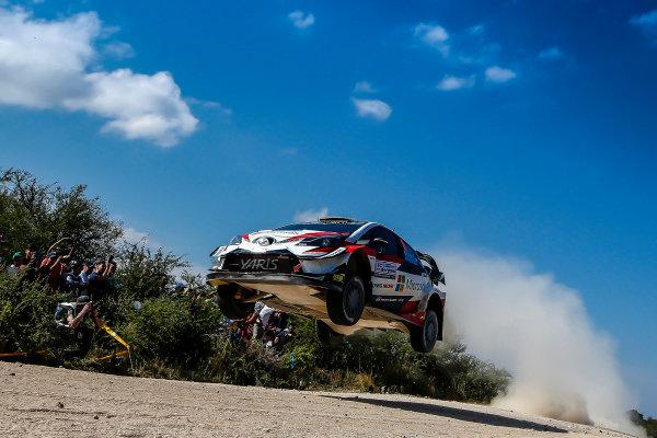 Hight Flying Ott Tanak jumps on Rally Argentina
