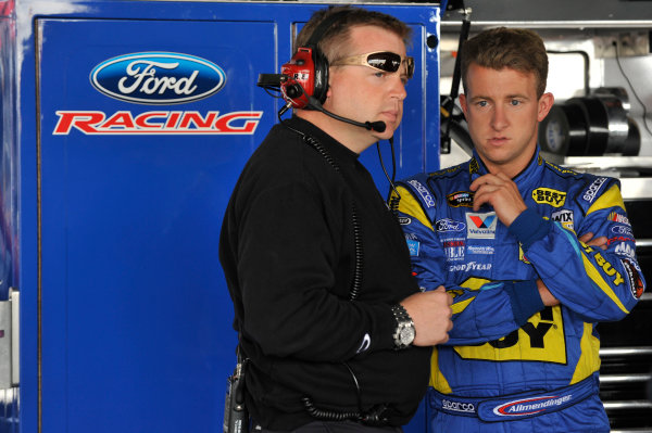 13 - 15 May, 2011, Dover, Delaware USAAJ Allmendinger and crew chief Mike Shiplett during practice at the Dover International Speedway.©2011, LAT SouthLAT Photo, USA