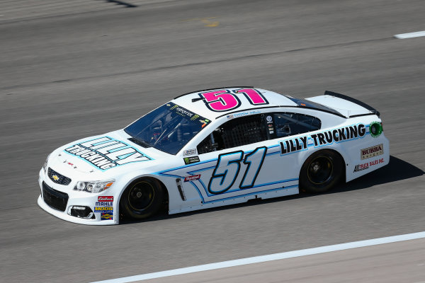 Monster Energy NASCAR Cup Series Go Bowling 400 Kansas Speedway, Kansas City, KS USA Friday 12 May 2017 Timmy Hill, Rick Ware Racing, Chevrolet SS World Copyright: Barry Cantrell LAT Images ref: Digital Image 17KAN1bc1129