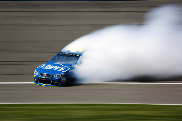 2017 Monster Energy NASCAR Cup Series Auto Club 400 Auto Club Speedway, Fontana, CA USA Friday 24 March 2017 Jimmie Johnson spins World Copyright: Barry Cantrell/LAT Images