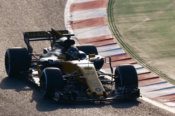 Circuit de Barcelona Catalunya, Barcelona, Spain. Monday 27 February 2017. Nico Hulkenberg, Renault R.S.17.  World Copyright: Zak Mauger/LAT Images ref: Digital Image _L0U9686