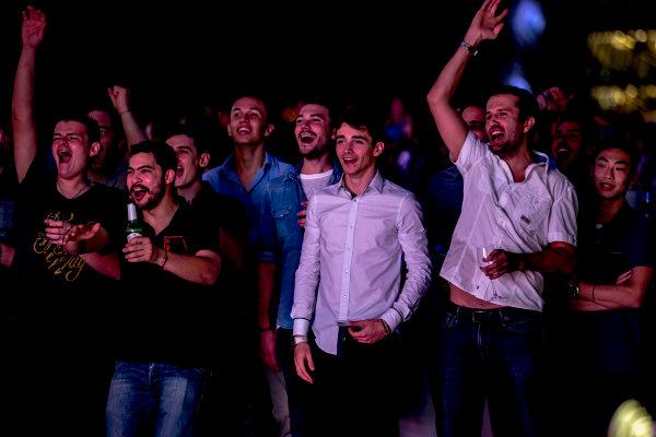 2016 GP2/3 Awards Evening. Yas Marina Circuit, Abu Dhabi, United Arab Emirates. Sunday 27 November 2016. Charles Leclerc (FRA, ART Grand Prix) and Alexander Albon (THA, ART Grand Prix)  Photo: Zak Mauger/GP2 Series Media Service/GP3 Series Media Service. ref: Digital Image _X0W9603